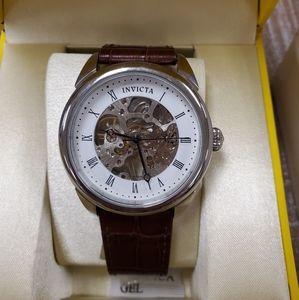 NIB Invicta Specialty Skeletonized Hand-Wind Watch